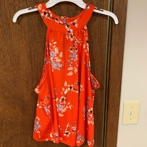 Large Floral Maurices Tank Top